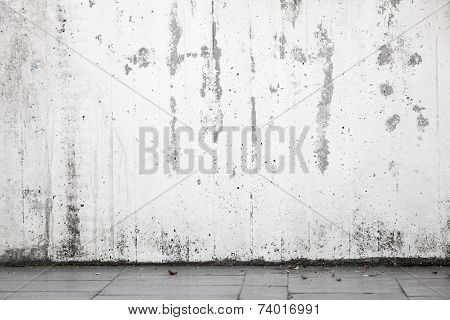 Abstract Urban Background Interior, White Wall