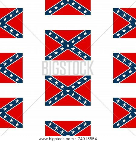 Confederate Flag Seamless Pattern