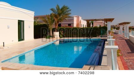 Swimming Pool Near The House In El-gouna, Egypt
