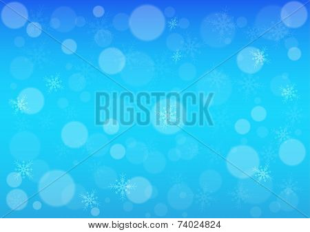 Abstract Bokeh Winter Background