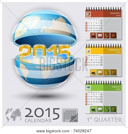 First Quarter Of 2015 Calendar Global Map