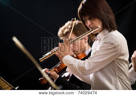 Flutist On Stage