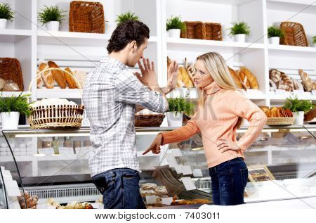 Dispute In Shop