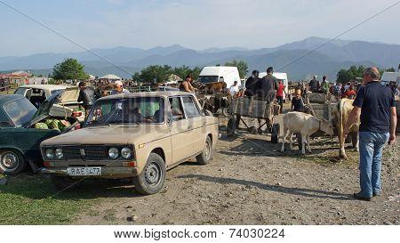 Cattle Market, Kabali, Georgia, Europe