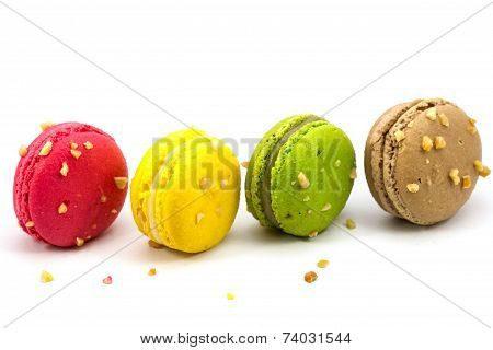 Sweety Macarons on white background
