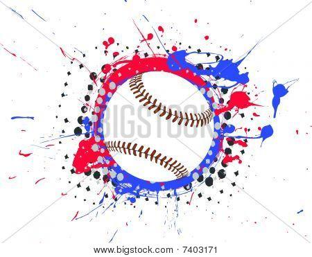 Vector Baseball with Splatter