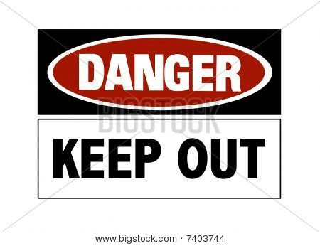 Danger Sign - Keep Out