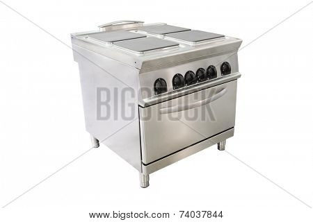 the image of a professional electric  stove at restaurant