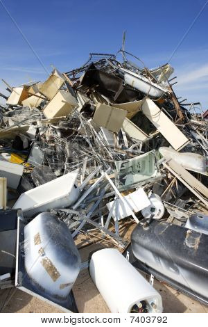 Scrap Recycle Ecological Factory Waste Environment Industry