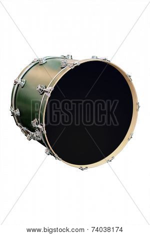 image of drum under the white background