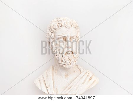Head of Sophocles sculpture