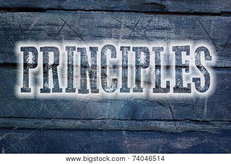 Principles Concept