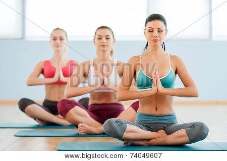 Meditating Together.