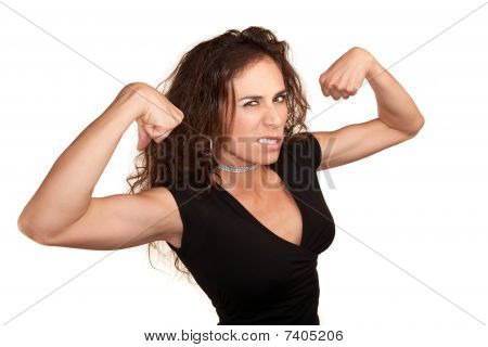 Pretty Woman Flexing