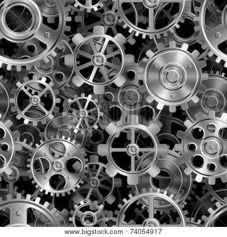 Metal gears pattern.