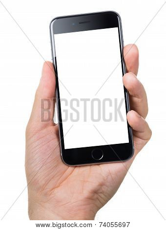 Hand Holding Apple Iphone6 With Blank Screen