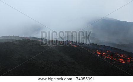 Pacaya lava flow near Antigua, Guatemala