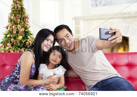 Family Take A Self Photo Together
