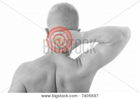 Man Holding Body Like He Is Sore