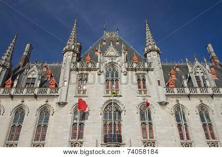 Front View Of The Provinciaal Hof (bruges, Belgium)