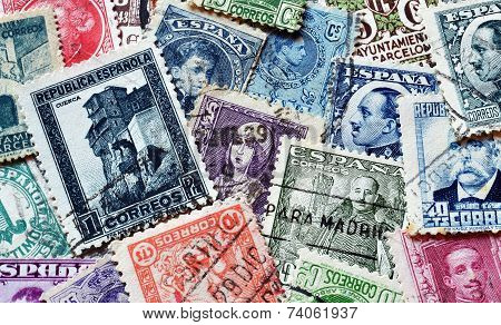 Old Spanish stamps