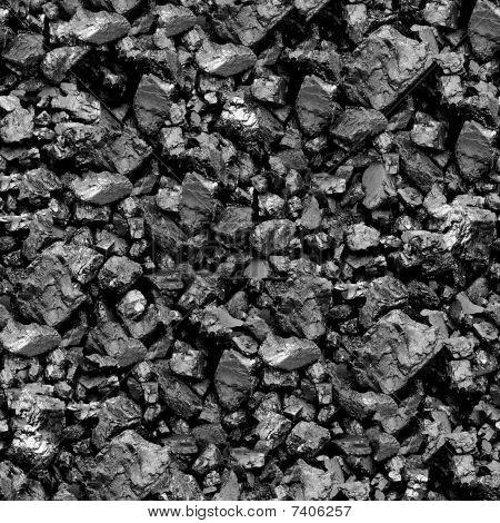Fondo transparente de carbón.