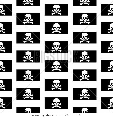 Jolly Roger Seamless Pattern