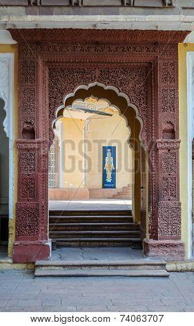 Doorway Of Mehrangarh Fort, Jodhpur, Rajasthan, India