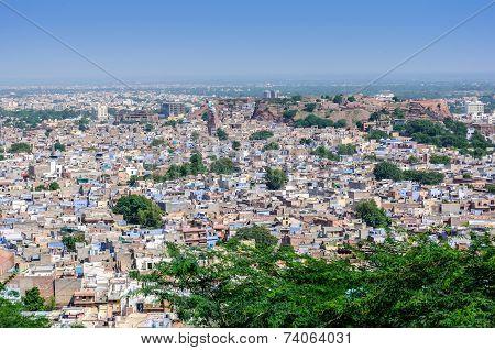 Cityscape Of Jodhpur From Mehrangarh Fort