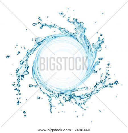 Swirling Water Splash