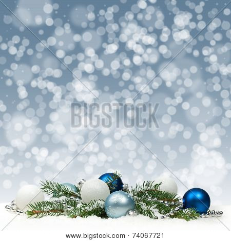 Christmas Decoration with snow.