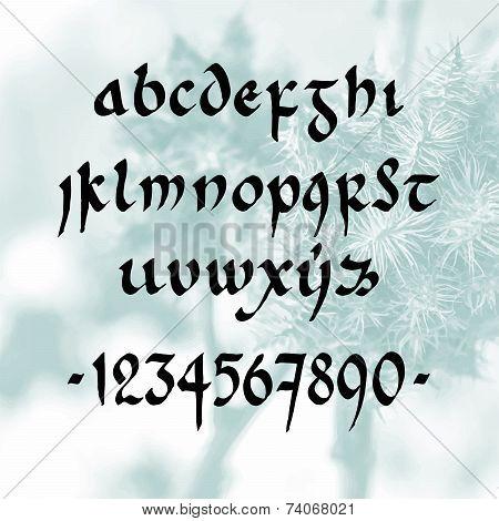 handwritten font minuscule