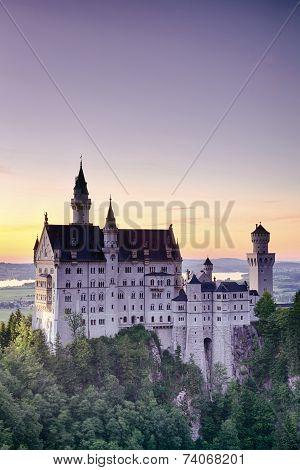 Sunset Landscape - Neuschwanstein Castle