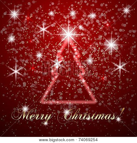 Vector abstract Merry Christmas or New Year background
