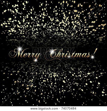 Vector abstract Merry Christmas or New Year golden background
