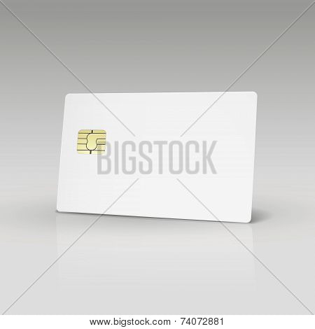 White Credit Card Or Phone Card