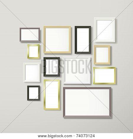 Colorful Blank Frameworks Set