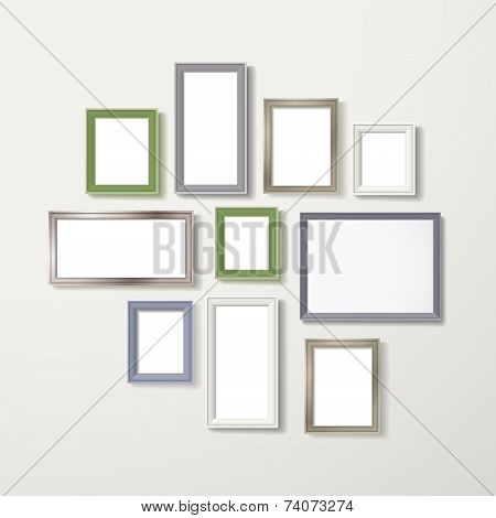 Colorful Blank Frameworks Set