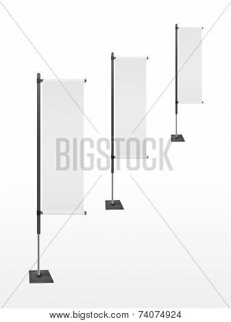 Blank Banner Flags Set