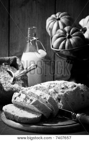 Sliced Pumpkin Bread