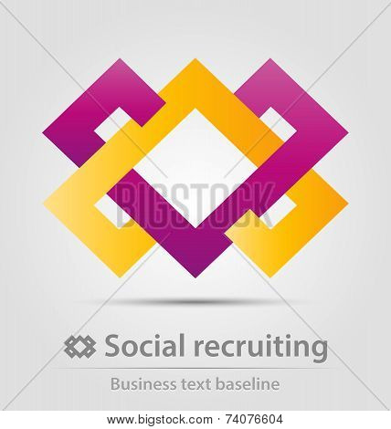 Social Recruiting Business Icon
