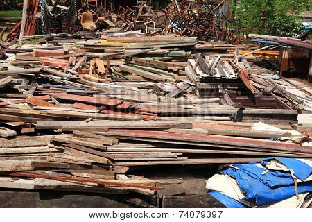 Used Timbers At Recycle Factory