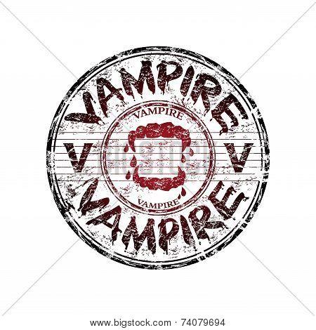 Vampire grunge rubber stamp