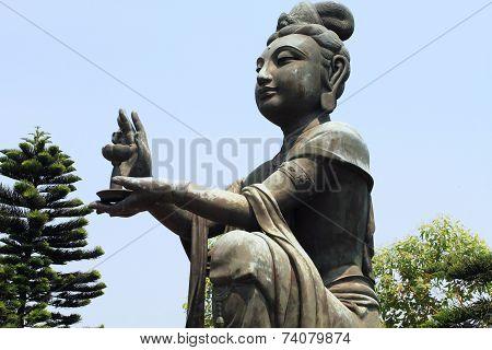 Bodhisattva at Po Lin Temple, Hong Kong