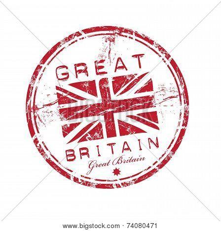 Great Britain grunge rubber stamp