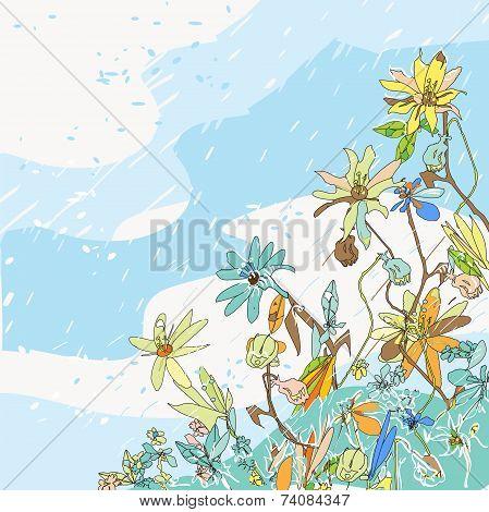 Flowers Under Snow
