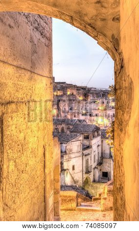 Detail Of View Of Matera, Italy, European Capital Of Culture 2019
