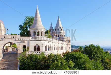 Fisherman Bastion on the Buda Castle hill in Budapest