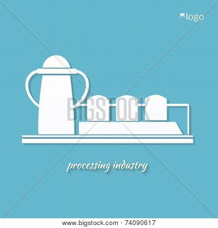 Industrial plant  vector
