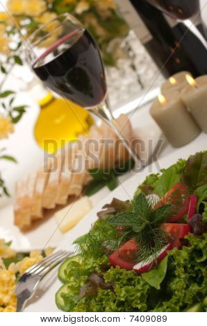 Salad And Wine